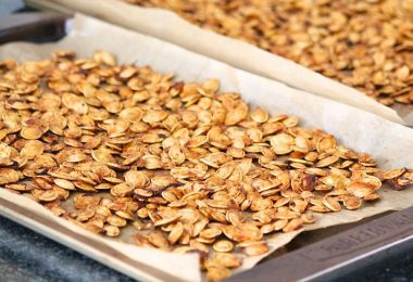 drying pumpkin seeds in the oven