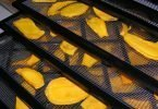 drying mangoes