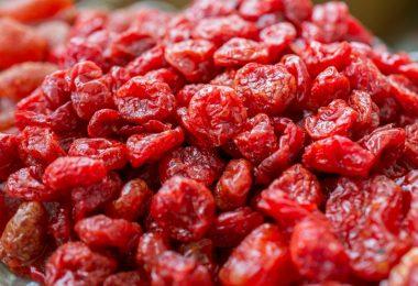 drying cherries