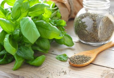 how to store dried basil leaves