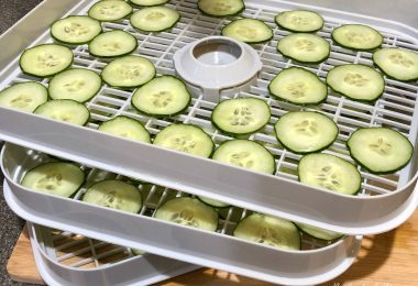 drying cucumber