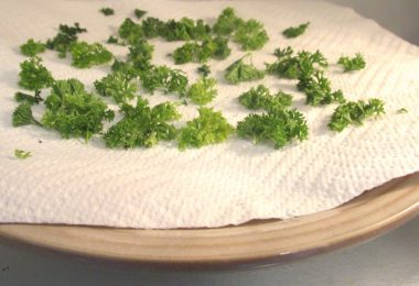 drying herbs in a microwave