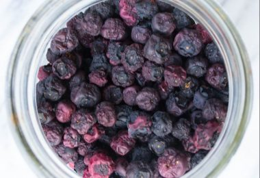 drying blueberries