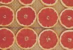 drying grapefruit