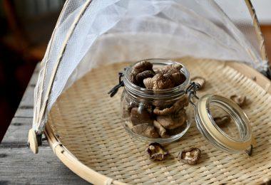 drying shiitake mushrooms